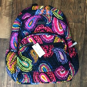 NWT Vera Bradley Backpack Twilight Paisley